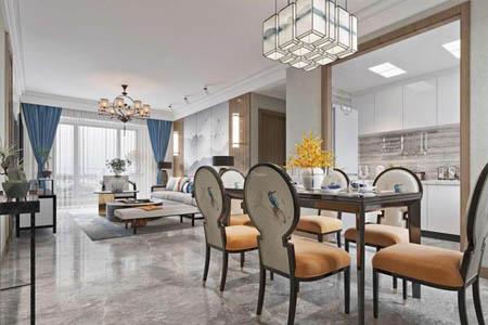 竞技宝ios下载安装190平方新中式风格大宅设计效果欣赏