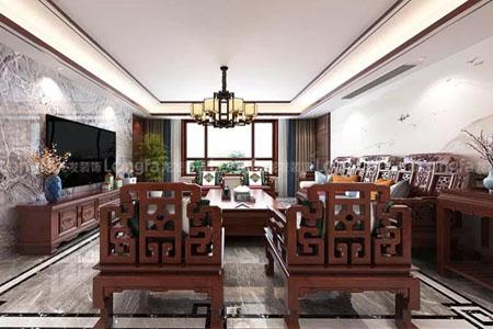 210平方竞技宝ios下载安装装饰原创中式风格设计效果图作品-纯中式家具配套