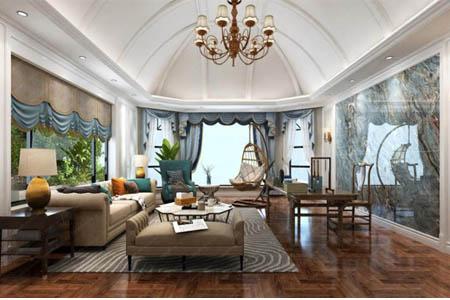 任你博官网入口装饰800平方美式风格别墅装修设计作品展示